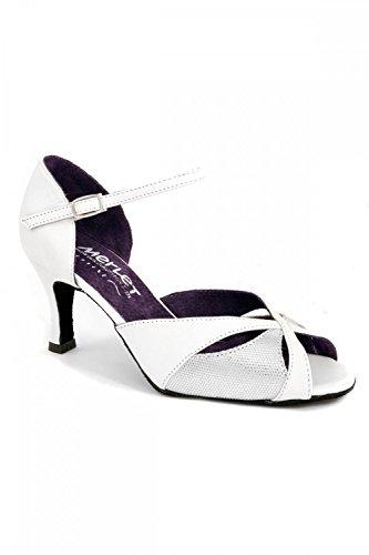 Blanc Saphir danse Merlet Chaussures de SwPx6qH