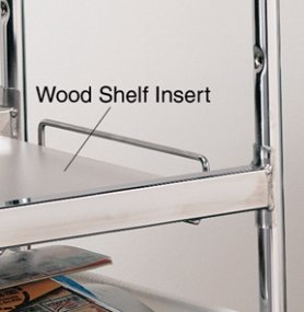 Charnstrom Laminated Wood Shelf Insert for Long Wire Carts, White (2367) by Charnstrom