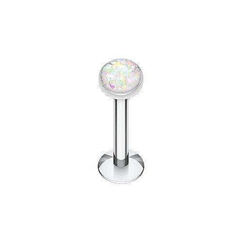 Opal Glitter Shower Dome 316L Surgical Steel WildKlass Labret Monroes (16G 3/8