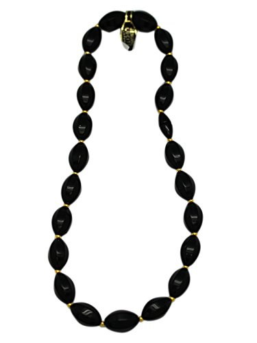 Faux Oval Shaped Onyx Bead Necklace (Oval Faux Onyx)