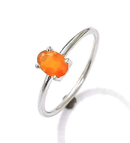 Gorgeous Orange Sapphire Ring Handmade Ring 925 Sterling Silver Ring Birthstone Ring