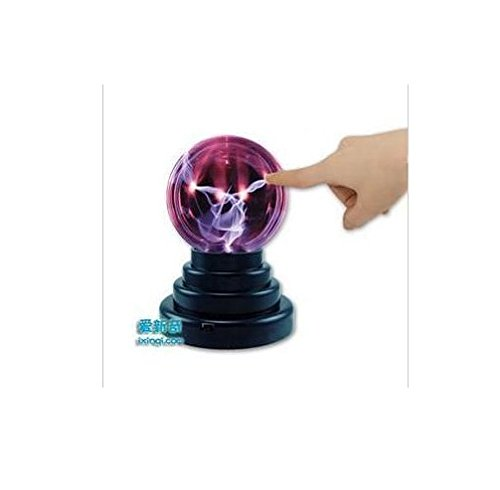UChic 1PCS Plasma Ball Static Magic Ball Touch Sound Lightning Sensitive Electric Globe Static Light USB or Battery Powered Perfect for Bedroom Office Bar Gift