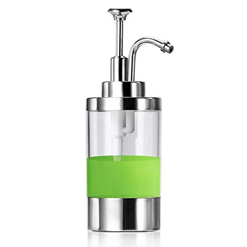Sumnacon Dish Soap Dispenser Bottle, Stainless Steel Countertop Liquid Soap Dispenser, Stylish Refillable Bathroom Kitchen Lotion Soap Dispensers Pump, 9 OZ Bottle (Polished)