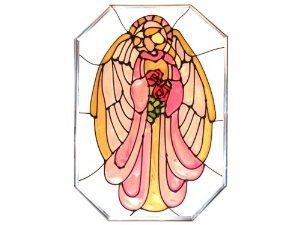 Angels Art Glass - Angel Painted Holiday Art Glass