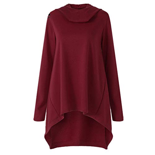 Sweatshirt Chic Manches Femme Sweat Tops Rouge Shirt Longues Longues Shirt Manches Blouse Wapiti Casual Femmes T Chemise Pull Pull vYwqZg