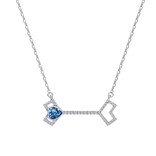 Xuping Elegance Arrow Shade Pendant Necklace with Box Crystals from Swarovski Jewelry for Women Thanksgiving Day (Aquamarine)