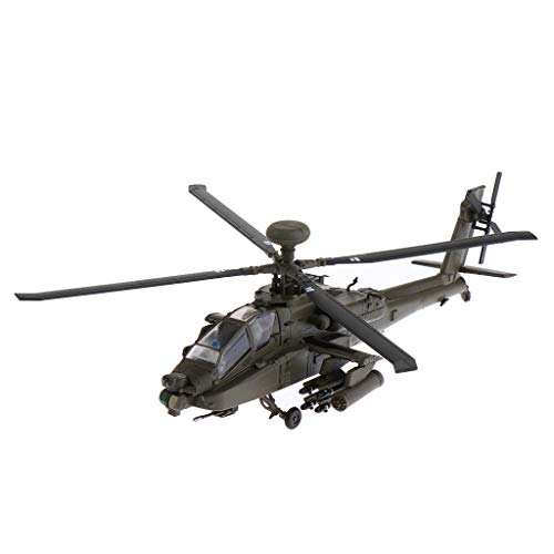 Fityle US AH-64 Apache Armed Helicopter Gunships Aircraft - 1/72 Scale Die-cast Alloy Airplane Army Model Home Collectibles