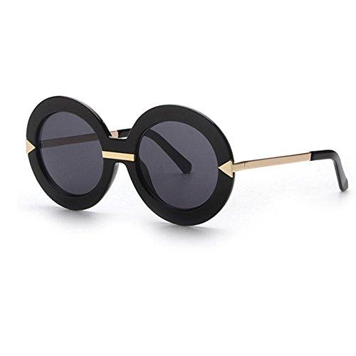 Round Frame Ladies Sunglasses Oversize Fashion Vintage Style Sunglasses JULI1504 (Ladies Style Sunglasses)