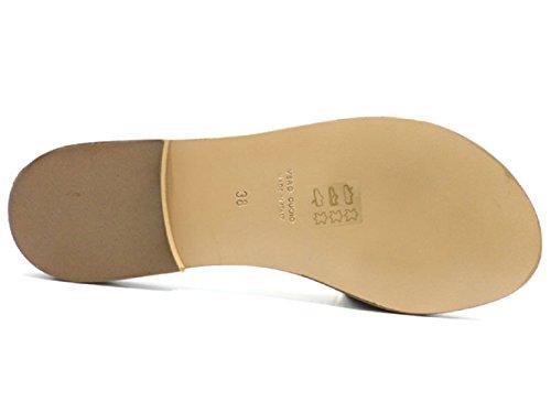 Zapatos Mujer Riviera 38 EU Sandalias Marrón Satén Strass AT341 4gEvHrVPa