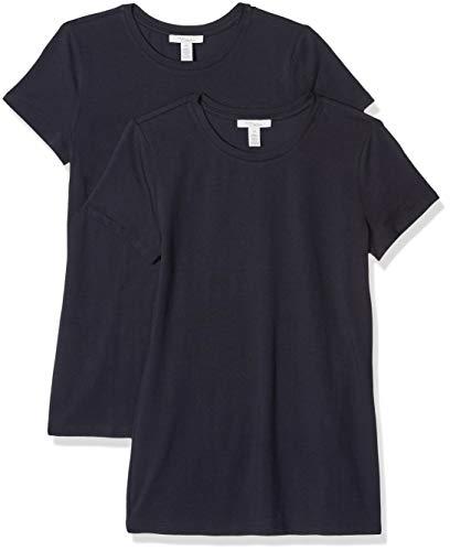 Amazon Brand - Daily Ritual Women's Stretch Supima Short-Sleeve Crew Neck T-Shirt, Navy, Medium
