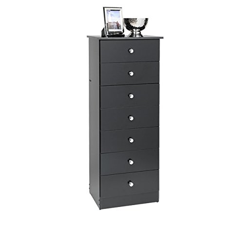 efficient business growth traditional tall black dresser with seven drawers this narrow wood 7. Black Bedroom Furniture Sets. Home Design Ideas