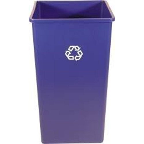 Rubbermaid Commercial Products 3959-73DBLUE Square Recycling Container, 50 gal