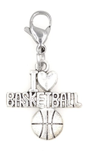 Price comparison product image I Love Basketball Sports Stainless Steel Clasp Clip on Charm SSCL 81Ai