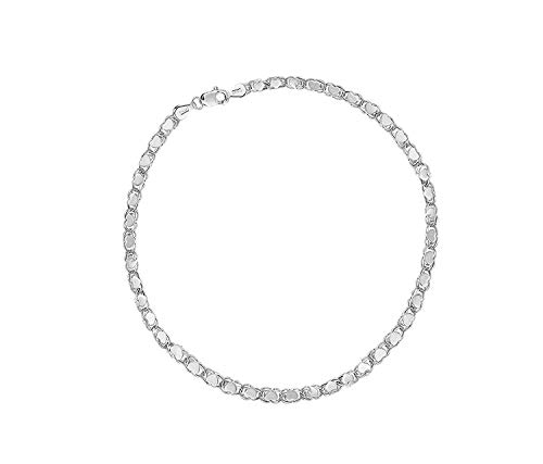14K Yellow or White Gold 2.9mm Shiny Heart Chain Necklace or Bracelet Bangle or Anklet for Pendants and Charms with Lobster-Claw Clasp (5.5'' 7'', 10'', 16'', or 18 inch) by The Diamond Deal (Image #1)