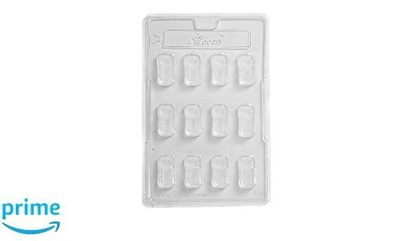 Cacao - Molde para Chocolate (12 cavidades, PVC, Transparente, 17 x 26 x 1,5 cm): Amazon.es: Hogar