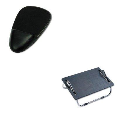 kitsaf2106saf90108 – Valueキット – Safco ergo-comfort調節可能なフットレスト( saf2106 )とSoftspotマウスパッドW / Wrist Rest ( saf90108 )   B00MOMTM06