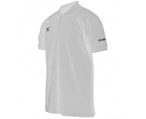 GILBERT Action Herren Poloshirt, Weiß, L