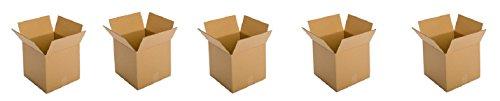 Pratt PRA0081 Recycled Corrugated Cardboard Single Wall Standard Cube Box with C Flute, 14