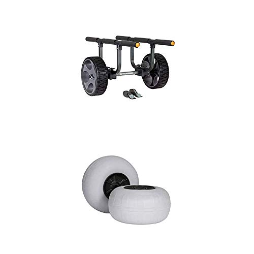 Wilderness Systems Heavy Duty Kayak Cart Package with Flat-Free and Beach Wheels