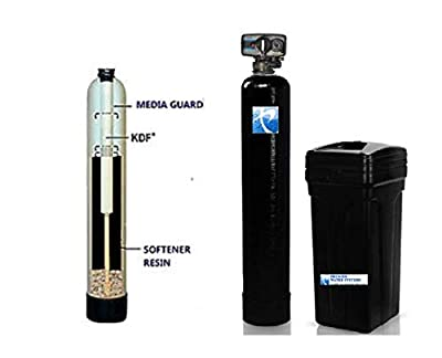 PREMIER Well Water Softener + KDF 85 Iron Removing Whole House Water System | 32,000 grain, 1 cu ft. 10% Cross Linked Resin