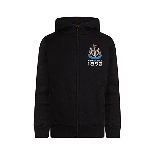 Newcastle United FC Official Soccer Gift Boys Fleece Zip Hoody Black 4-5 Years