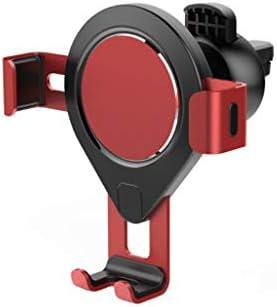 車の重力の出口車の携帯電話ブラケットの金属のAvitationブラケット (色 : 赤)