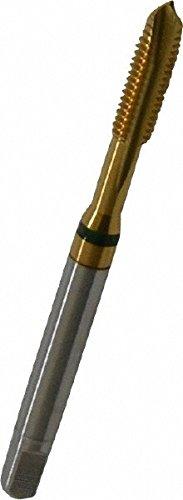 (GUHRING 9039170048260 Spiral Flute Tap, Plug, Cobalt, TiN Coating, 3 Flute, #10-32 Size)