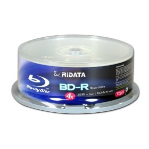 Ridata BDR-254-RDCB15 4X 25 GB BD-R Cakebox (15 Pack) (Discontinued by Manufacturer) by Ridata