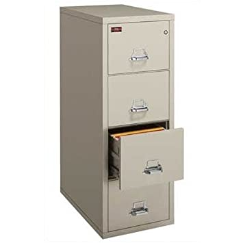 Fireproof 4-Drawer Vertical Legal File Finish: Tan - Lock: Combination Lock