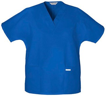Two Pocket V-Neck Tunic Scrub Top by Cherokee (Royal, XXX-Large ) (Cherokee Two Pocket Tunic)