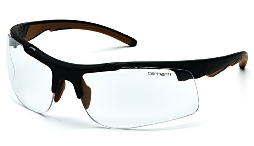 Carhartt Rockwood Safety Glasses with Clear Anti-Fog Lens