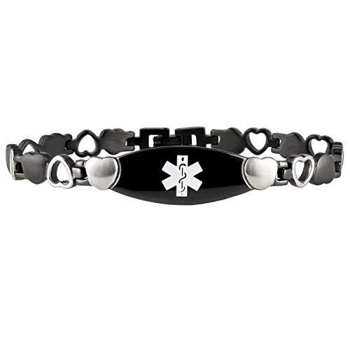 Medical Id Onyx Bracelet - Onyx Eternity Bracelet