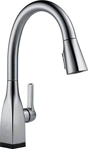 Delta Faucet Mateo Single Handle Touch Kitchen Sink Faucet With Pull Down Sprayer Touch2o And Shieldspray Technology Magnetic Docking Spray Head Arctic Stainless 9183t Ar Dst