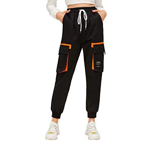 Romwe Womens Workout Jogger Pants High Waist Lightweight Hiking Outdoor Cargo Sweatpants