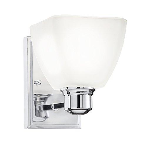 Bryant 1 Light Vanity - Kichler Bryant 1-Light 7.05-in Chrome Square Vanity Light