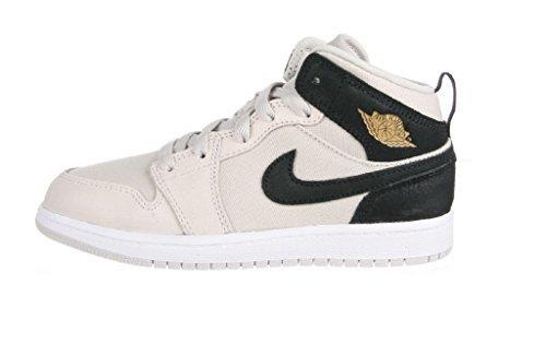 Nike JORDAN 1 MID BP baby-boys fashion-sneakers 640734-023_1Y - LIGHT BONE/METALLIC GOLD-BLACK-WHITE by NIKE