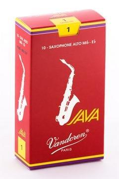 Vandoren SR261R Alto Sax JAVA Red Reeds Strength 1; Box of 10