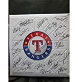 Signed Rangers, Texas (2013) Replica Full Size Base By the 2013 Texas Rangers Team autographed