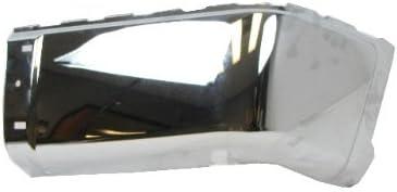 STEEL 2007-2012 GMC SIERRA 1500 2500HD 3500HD REAR CHROME BUMPER CAP 2007-2012 CHEVY SILVERADO 1500 2500HD 3500HD WITHOUT SENSOR HOLE RH=PASSENGER SIDE