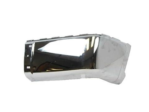 2007-2012 CHEVY SILVERADO 1500 2500HD 3500HD / 2007-2012 GMC SIERRA 1500 2500HD 3500HD REAR CHROME BUMPER CAP (STEEL) WITHOUT SENSOR HOLE RH=PASSENGER - Passenger Side Bumper Grille
