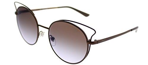 Vogue VO 4048S 5074B7 Matte Light Brown Metal Cat-Eye Sunglasses Violet Gradient Mirror - Eyewear Cateye Vogue