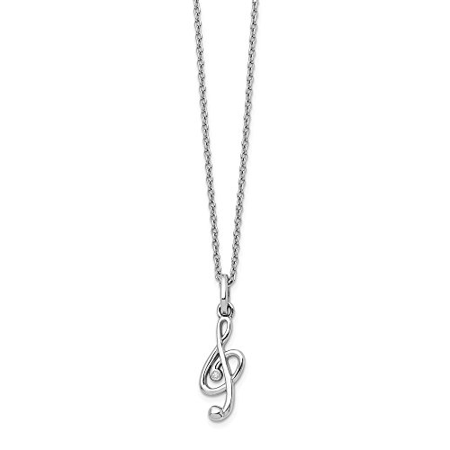 925 Sterling Silver Diamond Musical Chain Necklace Pendant Charm Music Fine Jewelry Gifts For Women For Her