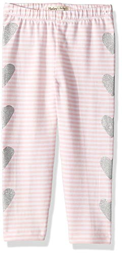 Heart Pink Bloomers - Hatley Girls' Toddler Leggings, Shimmer Hearts, 2 Years