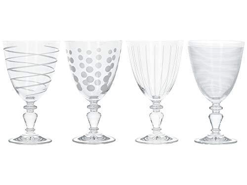 Mikasa Cheers Set Of 4 Goblets, Closed Box