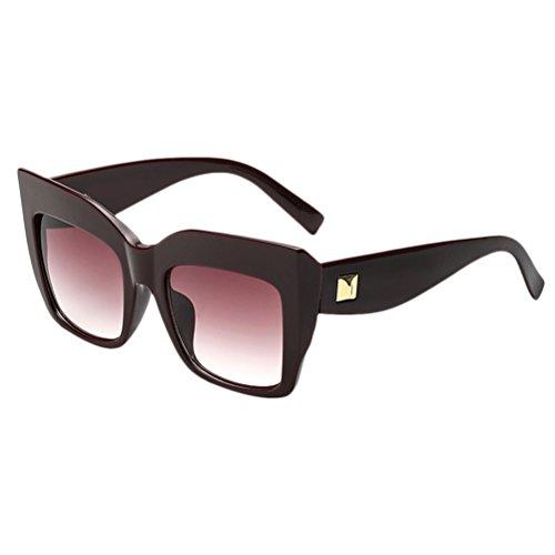 Des Nuances de Soleil Lunettes Hipsters Lunettes Wine Womens Soleil Red Cadre Des Femmes Mode Sunglasses Surdimensionné de Irrégulier Zhhlaixing Grand w8A6Fqax