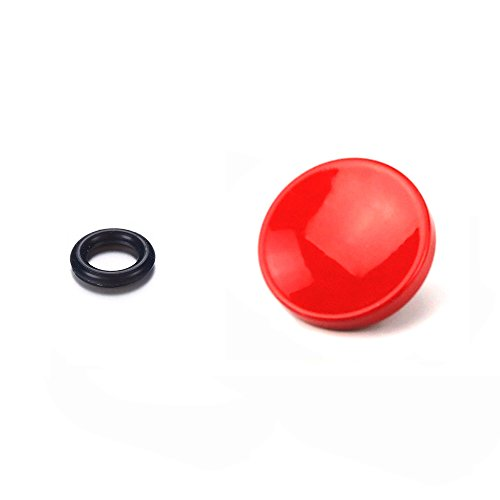 Soft Touch Buttons - Forephoto Red Metal Concave Surface Soft Release button Finger Touch for Fujifilm XT20 X100F X-T2 X100T X-PRO2 X-T10 X-PRO1 X-E2S X100 X100S X10 X20 X30 X-E1 X-E2 STX-2 Nikon Df FM2 F3 Leica M (Red)