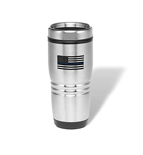 PlusTactical Expression Stainless Steel Tumbler (Thin Blue Line)