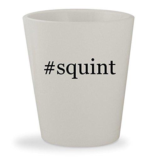 #squint - White Hashtag Ceramic 1.5oz Shot - Shirt Sandlot Costume Squints