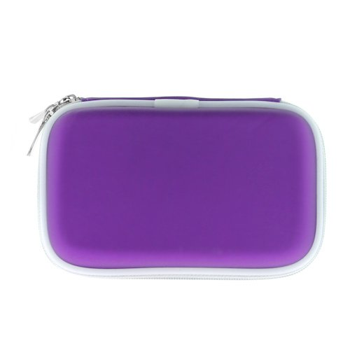 Premium Dark Purple Eva Pouch Carrying Case for Nintendo DS Lite, 2.5