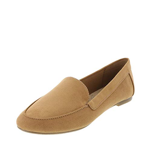 (dexflex Comfort Camel Suede Women's Barb Flex Loafer 8.5 Regular)